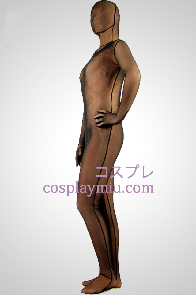Coffee Lycra Zentai Suit