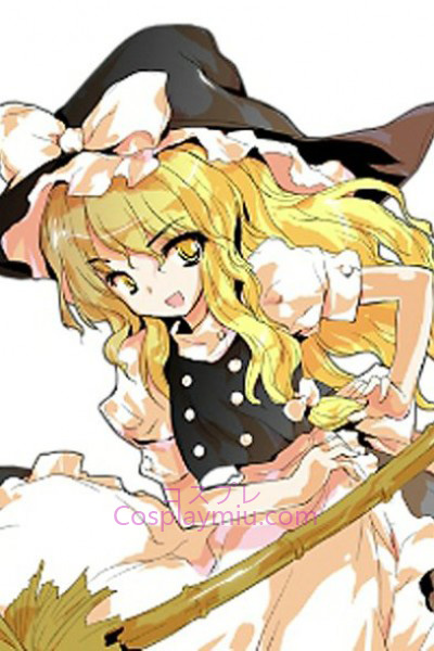 Touhou Project Kirisame Marisa Blond Long Curly Cosplay Wig