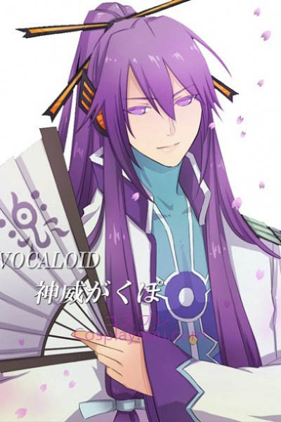 Vocaloid Long Purple Gakupo Cosplay Wig