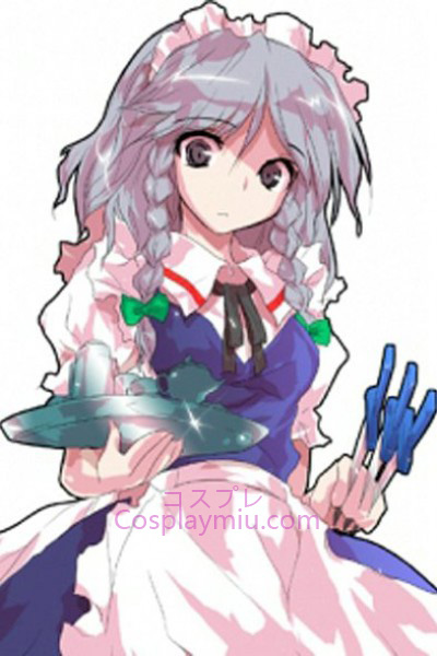 Touhou Project Izayoi Sakuya Light Purple Short With Long Braid Cosplay Wig