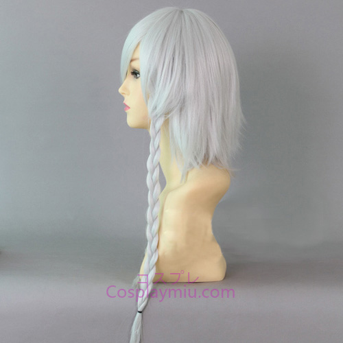 Touhou Project Izayoi Sakuya Silver Short With Long Braid Cosplay Wig